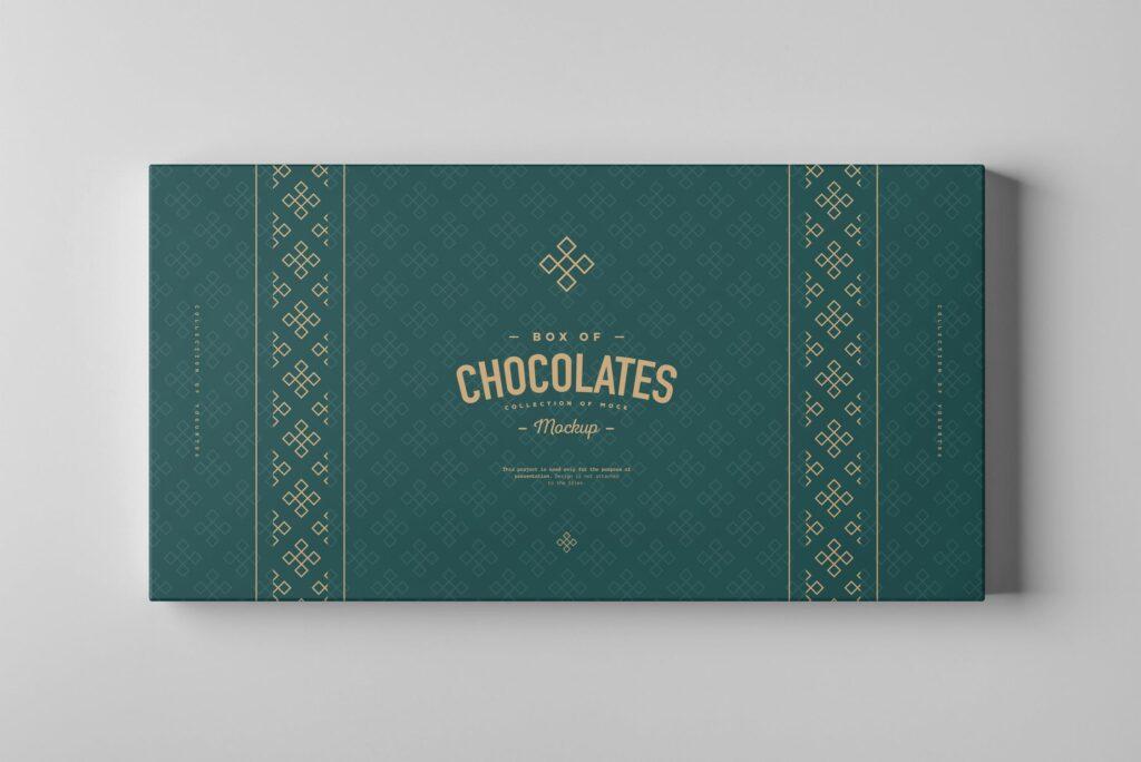 精致巧克力品牌包装模型样机效果Box Of Chocolates Mockup 2插图(5)