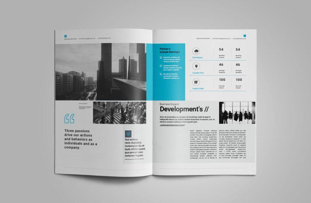 企业简介商务手册历史介绍杂志画册模板Business Profile插图(5)