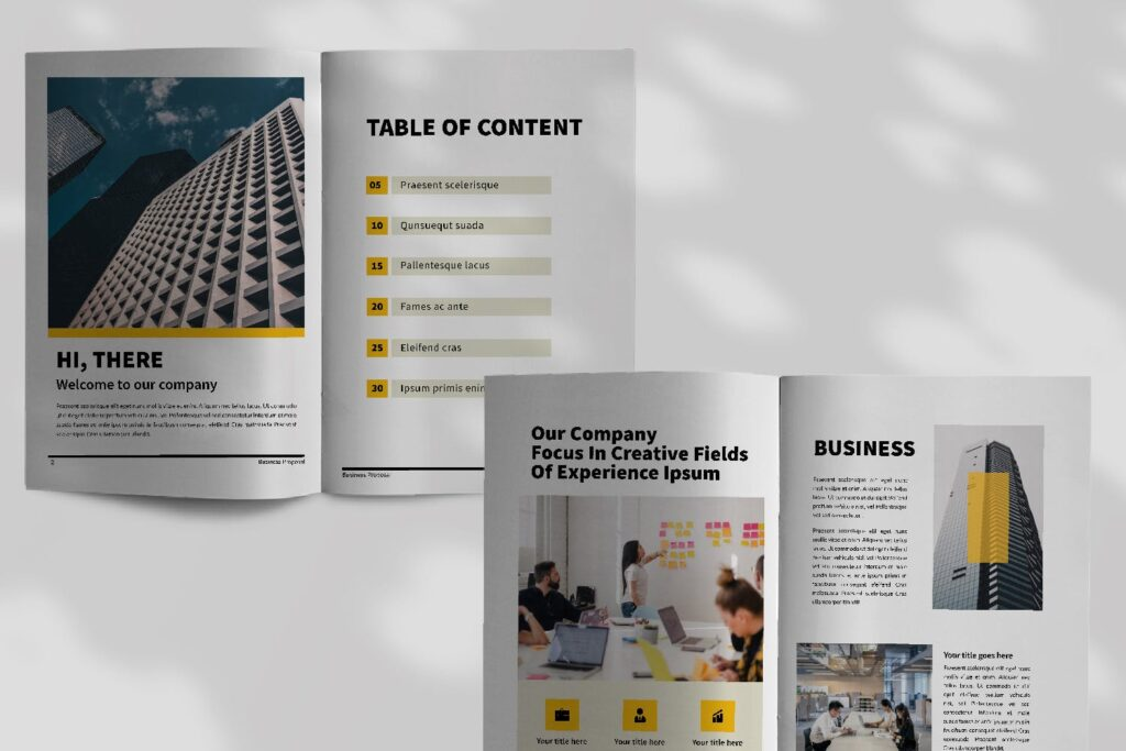 企业商务类画册模板素材画册模板Bussiness Proposal Brochure Company插图(4)