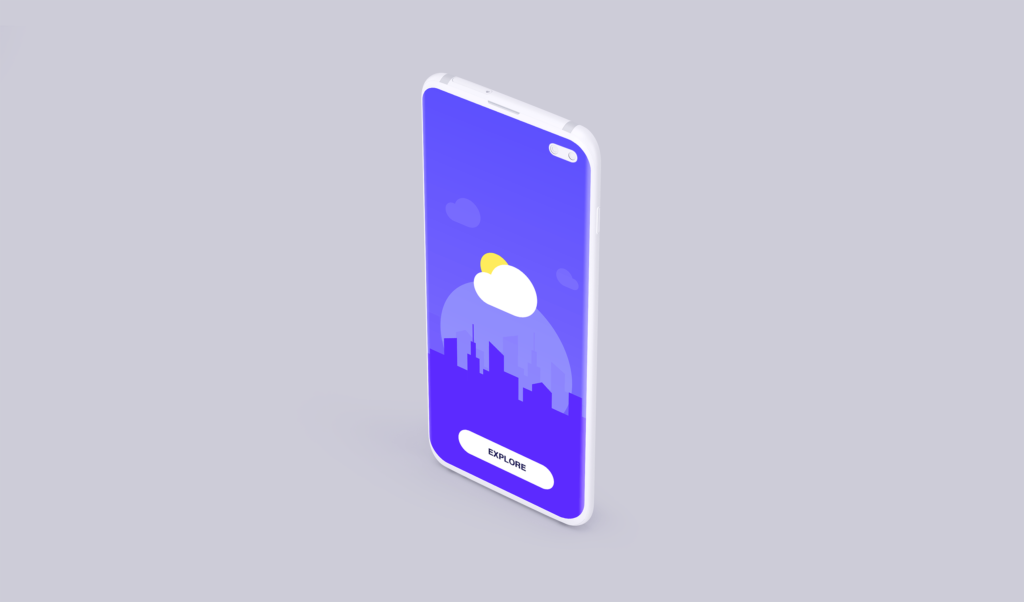 UI作品包装样机模型/三星Galaxy S10 Plus模型样机效果图Clay Mobile Mockup D97YTXQ插图(4)