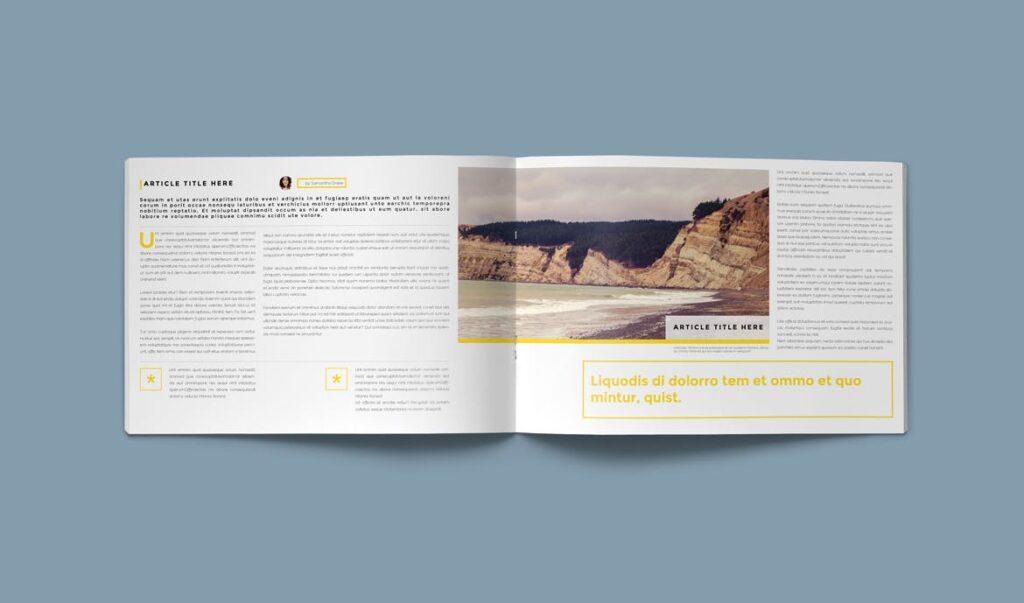 横版企业小册子/目录模板画册杂志模板Clean Brochure Catalog Template插图(5)