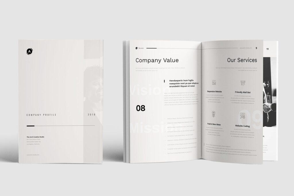 企业产品介绍画册模板素材Company Profile D9JHZJ插图(4)