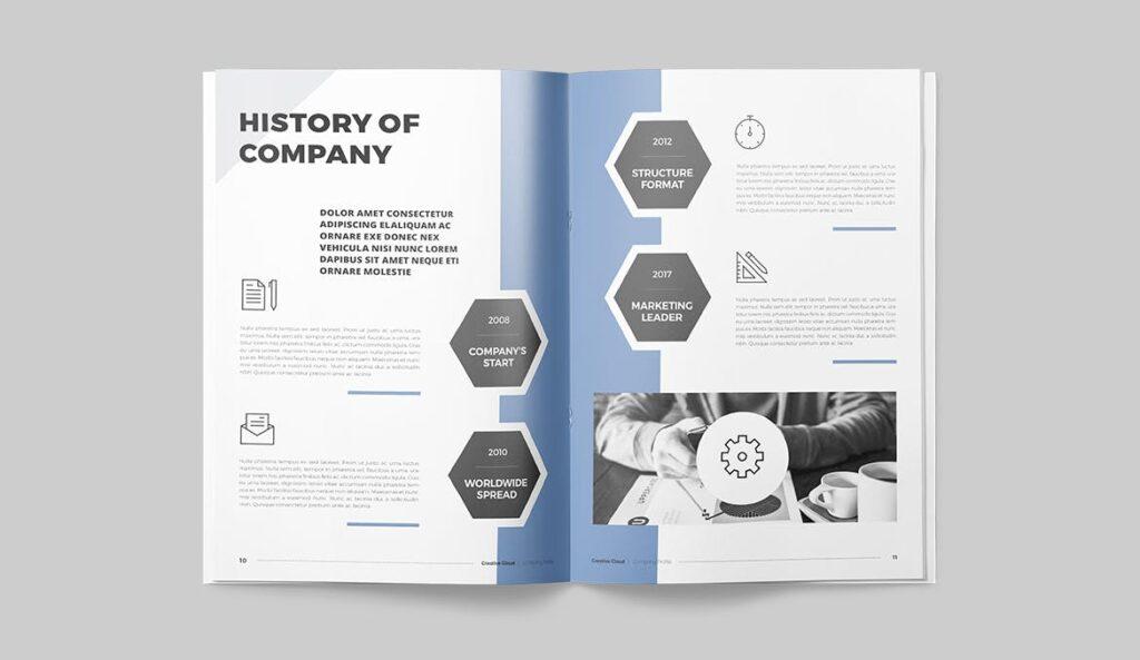 公司简介画册杂志模板素材下载Company Profile YT7HTG插图(5)