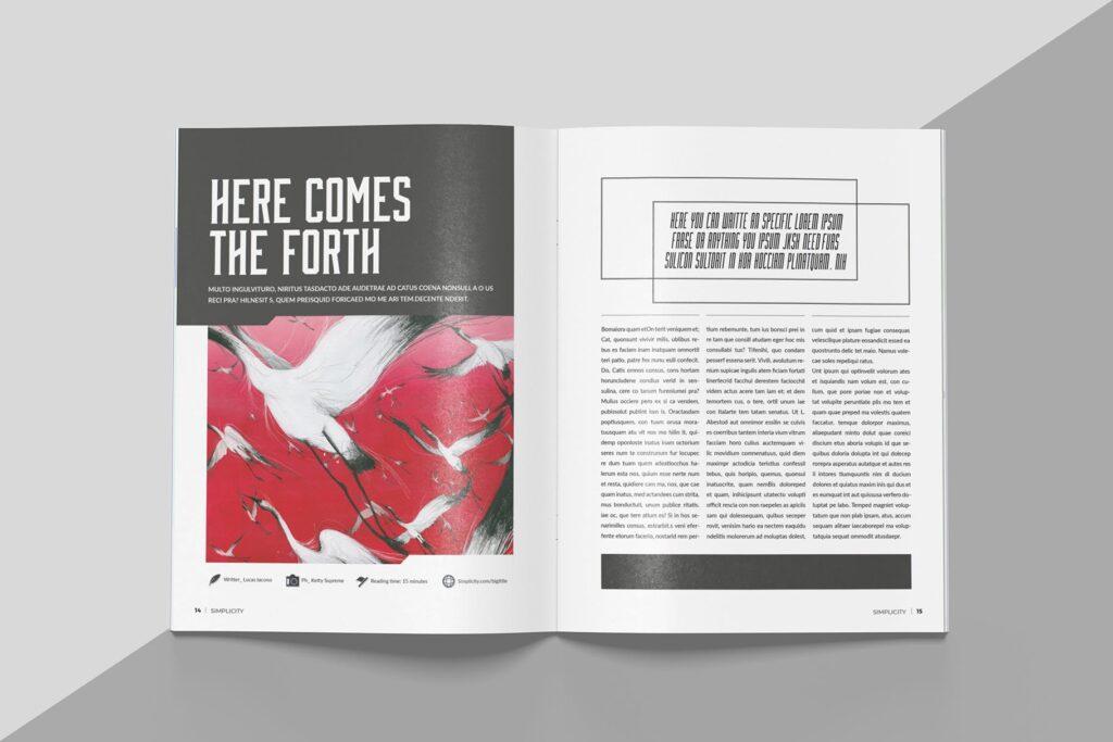 艺术品绘画作品展览画册杂志模板Create Magazine Template插图(5)