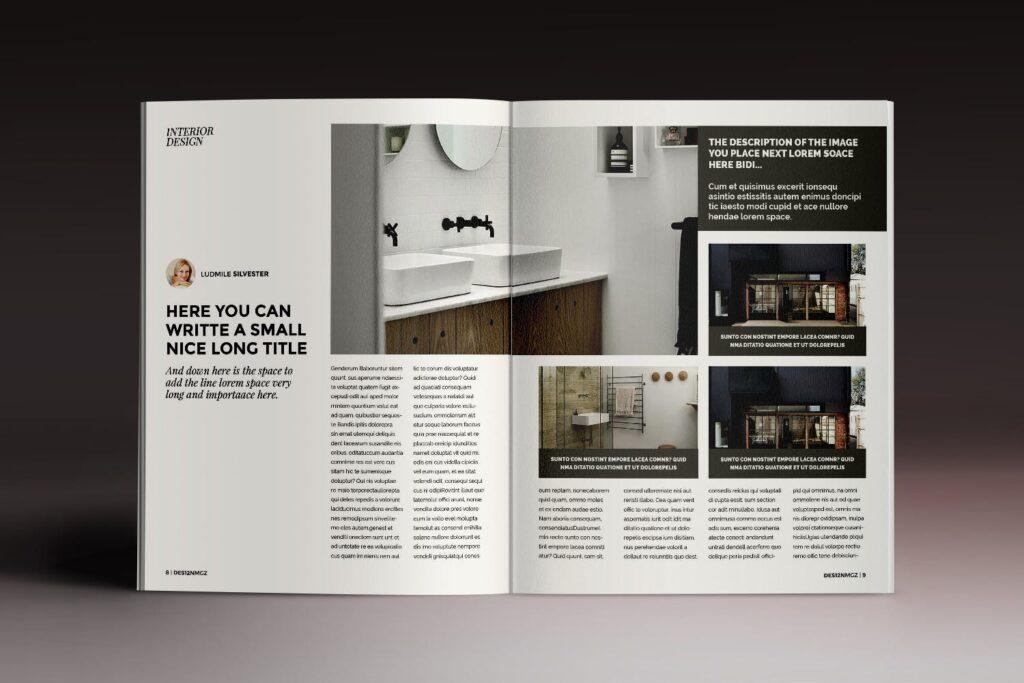 32页时代周刊画册杂志模板Des12n Magazine Indesign Template插图(4)