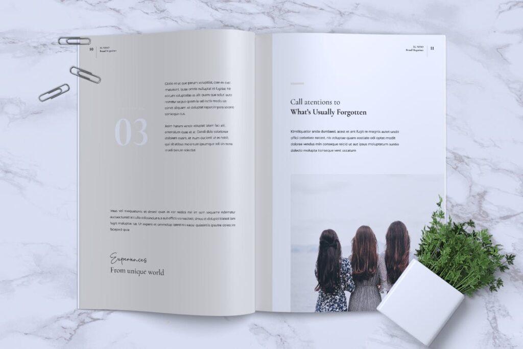 高端企业品牌宣传画册模板ELNINO Minimal Magazine插图(5)