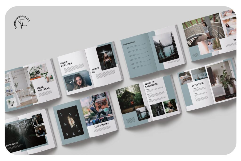 现代简约中性的杂志设计风格Essential Magazine Template插图(5)