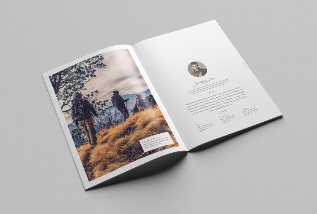 时尚摄影简洁板式画册杂志模板素材下载Fashion Photography Catalog Brochure插图(5)