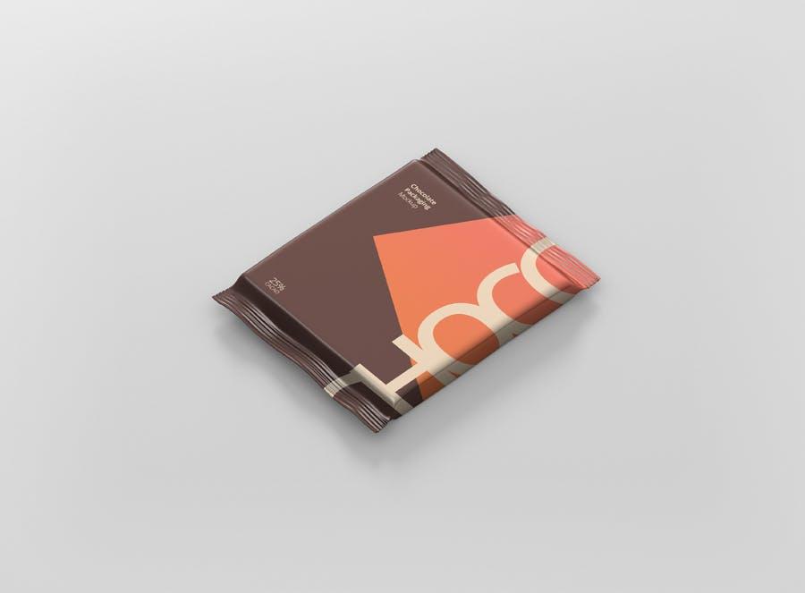 真空巧克力包装模型样机素材下载Foil Chocolate Packaging Mockup Square Size插图(5)