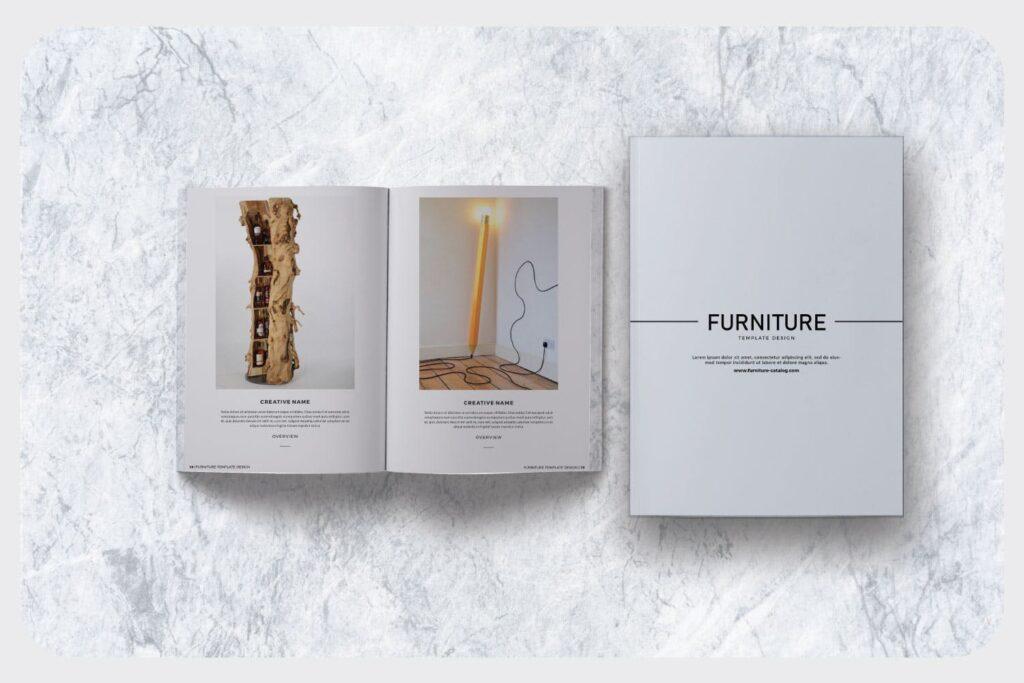 家具设计/室内设计画册杂志模版设计Furniture Collection Lookbook插图(5)