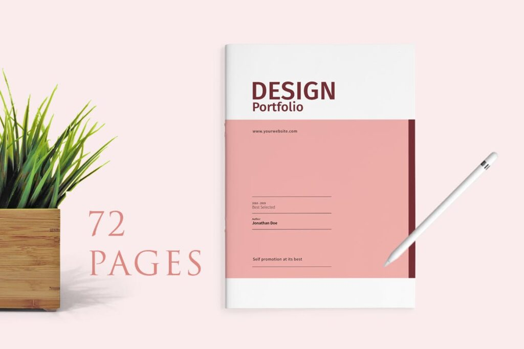精致文艺室内设计画册模版素材Graphic Design Portfolio Template插图(5)