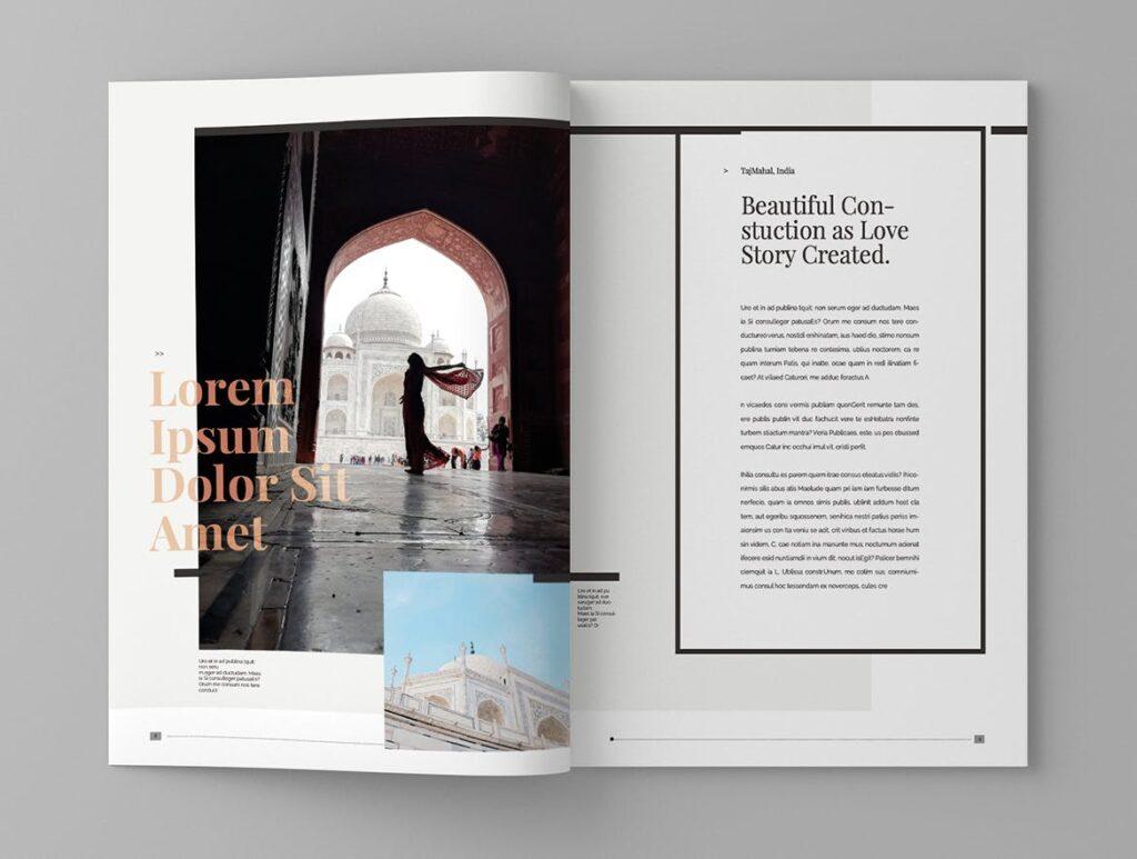 复古风格历史介绍类型杂志模板素材Historct Magazine Template插图(5)