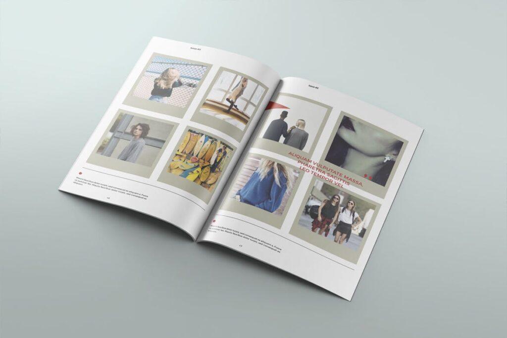 爱情夏日主题/美好生活方式杂志画册模版Love Summer Magazine Template插图(5)