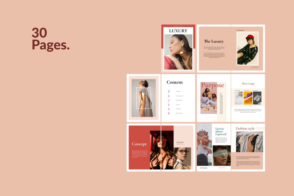 时尚潮流行业/室内设计工作室介绍画册杂志模版Luxury Brochure Catalogue minimal Corporate Agency插图(5)