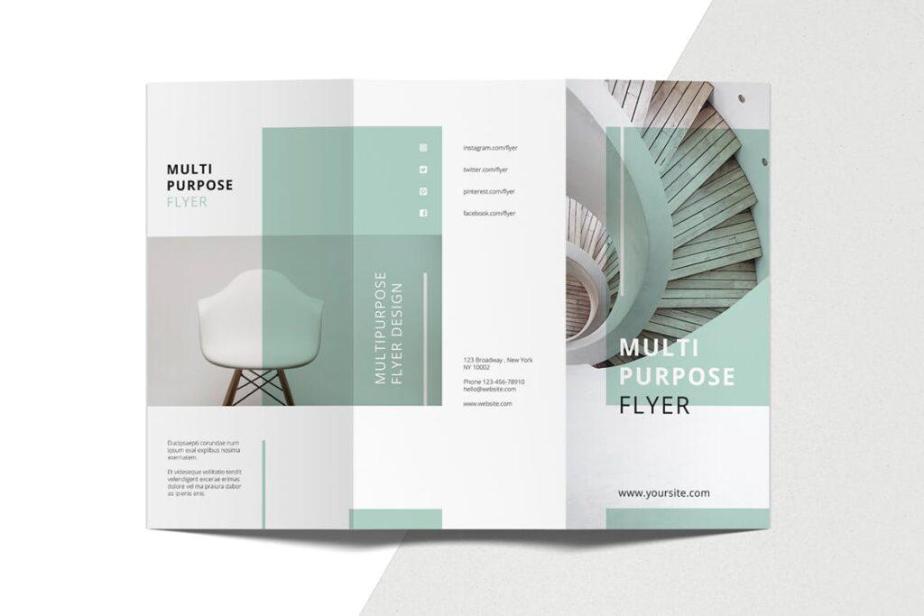 企业简洁板式三折页模板素材下载MINT Multipurpose Trifold Brochure插图(5)