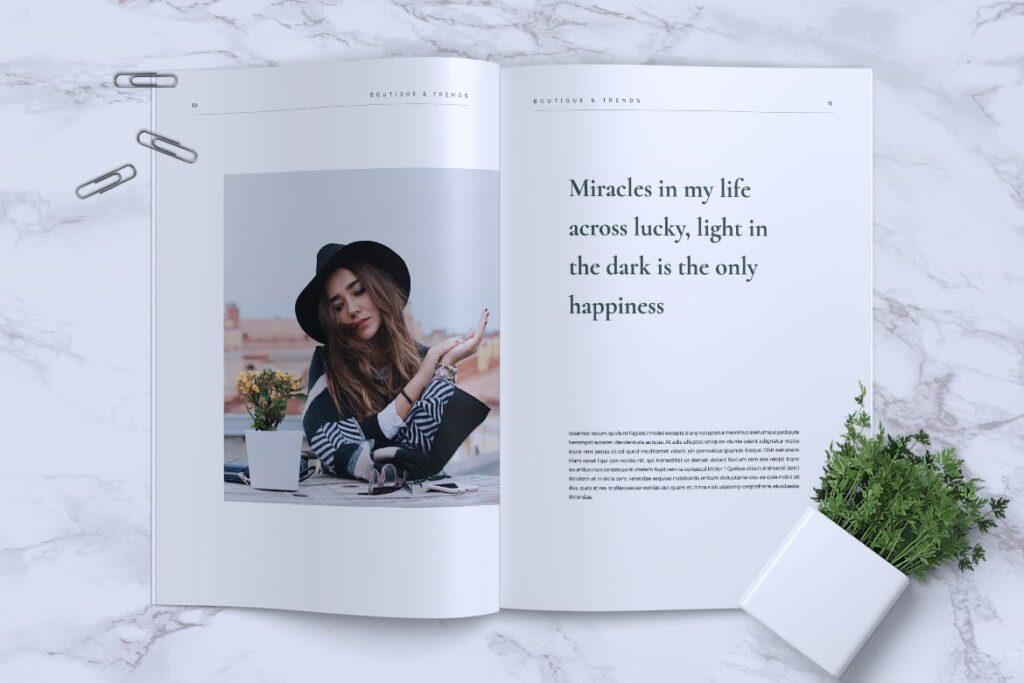 优雅时尚多用途杂志模板MISQUEEN Minimal Magazine Styles插图(5)