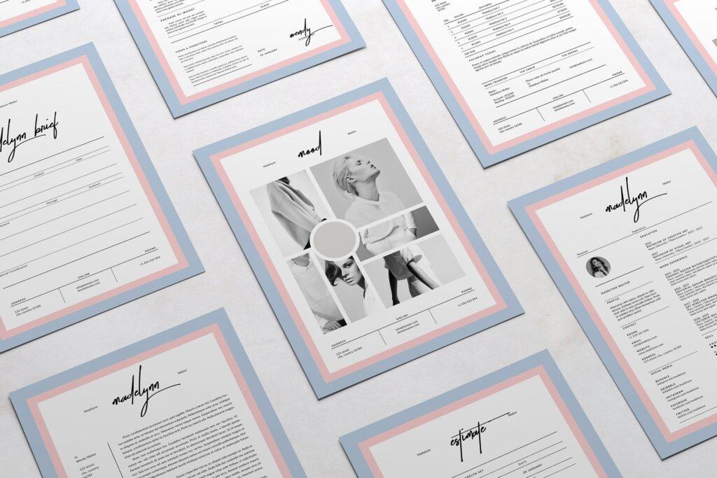 个人信息简介公司内部小册子模版素材Madelynn Pitch Pack插图(5)