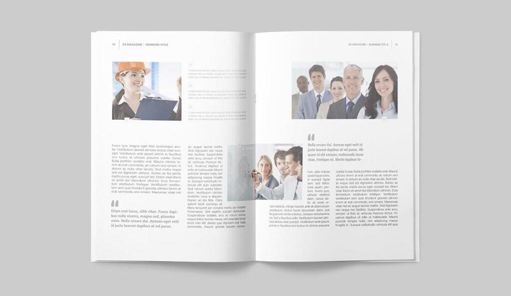 企业商务多用途/企业规划手册模板Magazine Template插图(5)