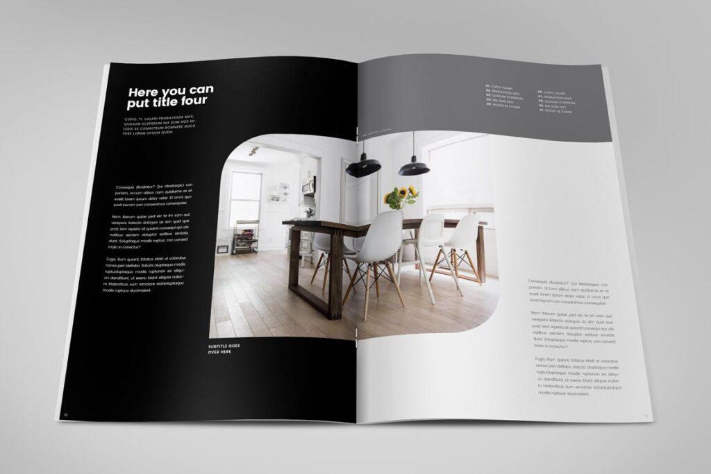 极简室内设计/居家生活美学杂志画册模板Minimal Interior Design Magazine插图(5)