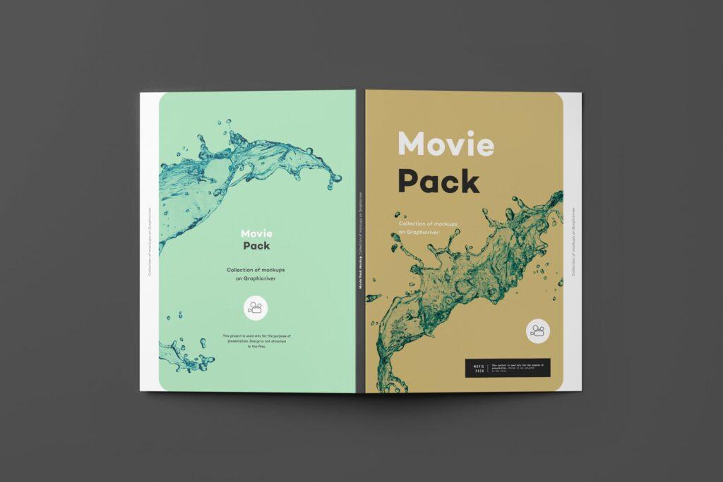 古典电影CD光盘包装/古典音乐唱片模型样机素材模型1Movie Pack Mockup 1插图(5)