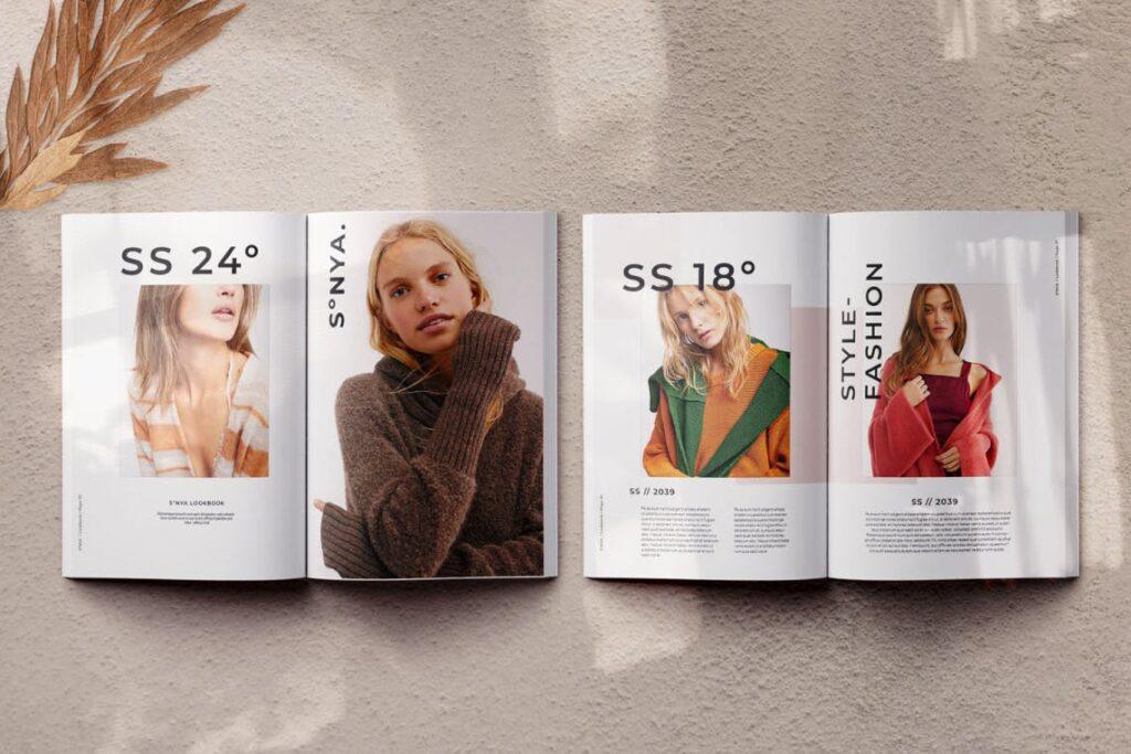 潮流时尚生活方式周刊杂志模版Sonya Lookbook Magazine插图(5)