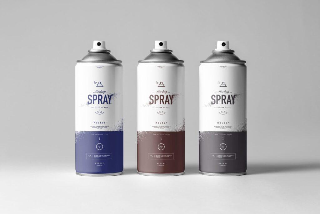 街头艺术喷绘美术作品金属罐模型样机下载Spray Can Mockup 7N8PV8插图(5)