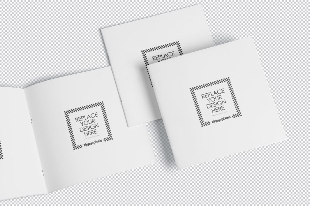 企业介绍类小册子/杂志模型样机素材下载Square Brochure Magazine MockUp插图(4)