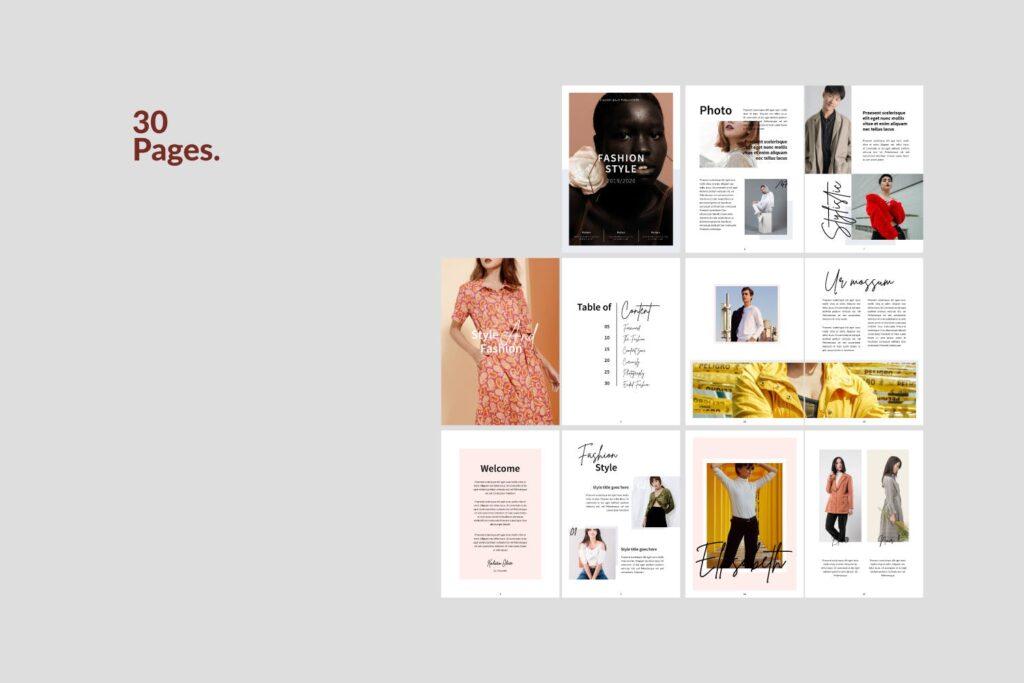 工作室室内设计行业产品目录展示画册Style Fashion Brochure Minimal Company Agency插图(5)