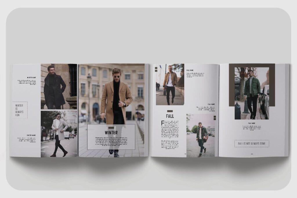 潮流男士服装品牌杂志模版The Mens Lookbook Magazine插图(5)