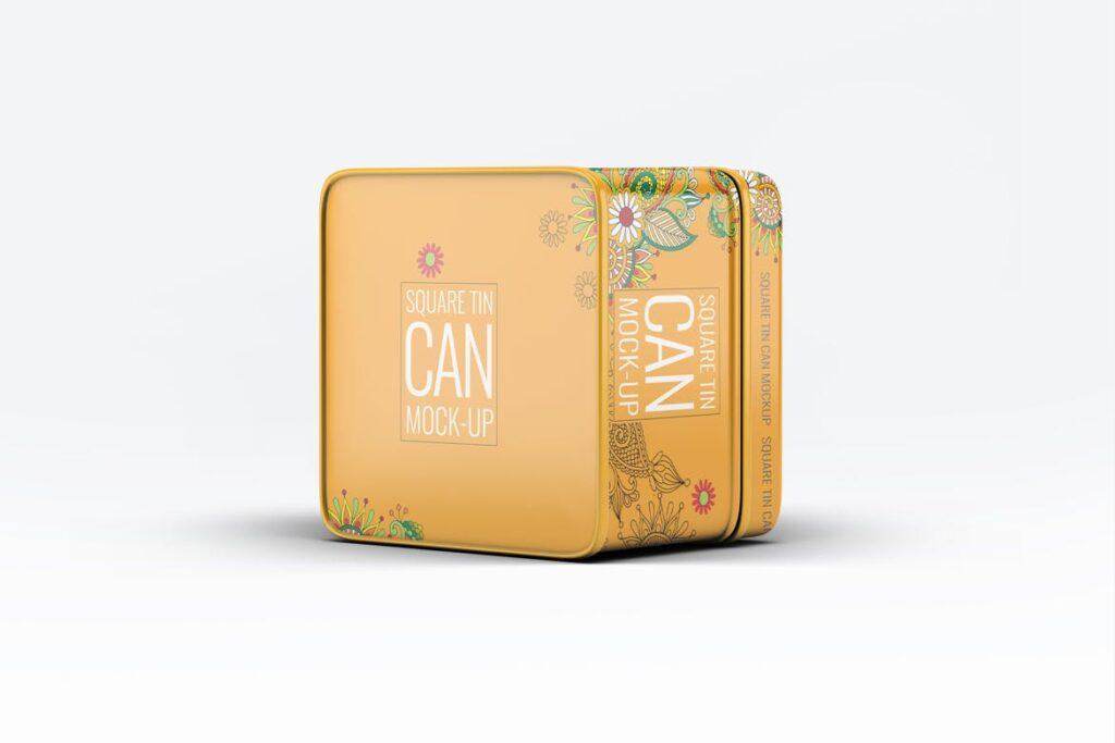 高级锡包装罐模型/茶叶包装罐样机素材下载Tin Can Mock Up LQMJ9G插图(4)