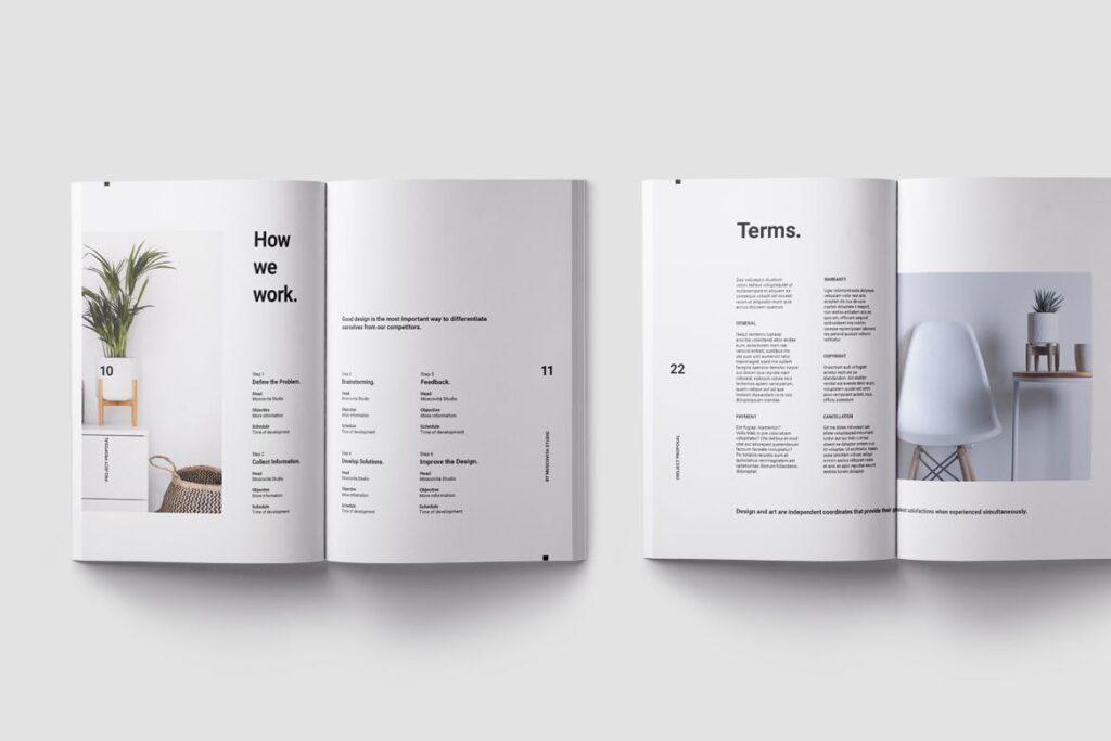 现代生活极致简洁家居设计/室内设计画册模版Voom Proposal插图(5)
