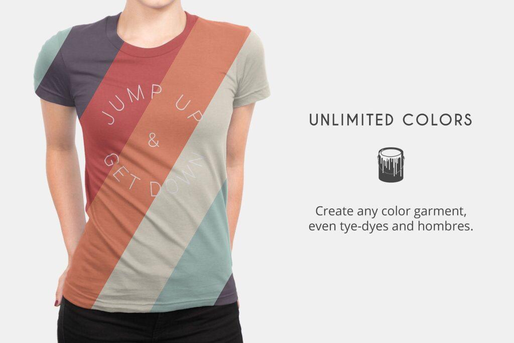 企业文化衫/高质量的t恤模板样机下载Womens T Shirt Mock ups插图(5)