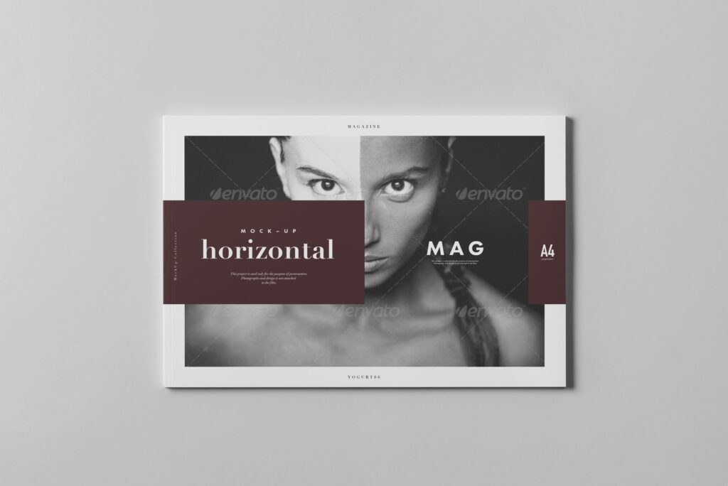 A4横版杂志封面/内页展示样机4 Horizontal Magazine Mockup 3插图(6)