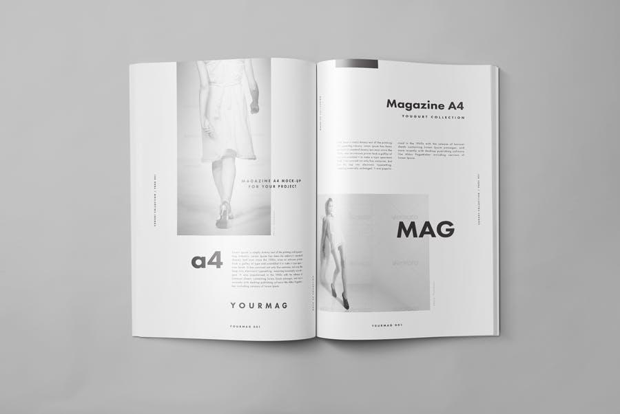 逼真的A4艺术类杂志/目录模型样机A4 Magazine Mockup 2插图(4)