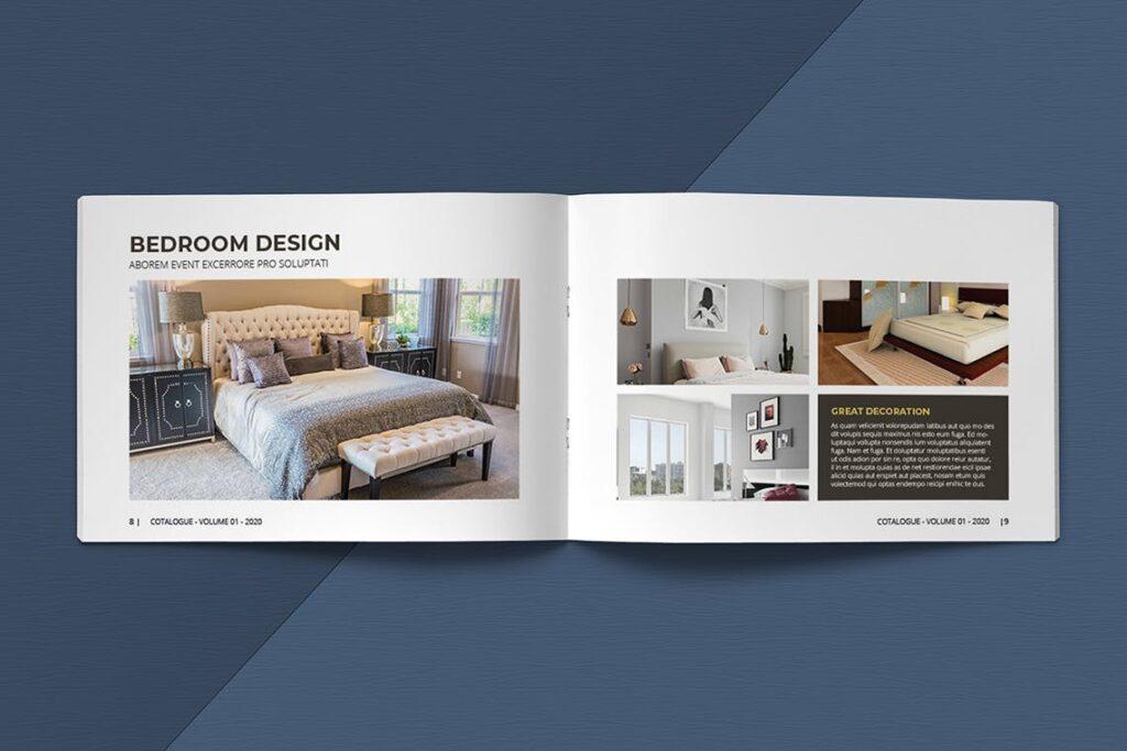 横版家居室内设计画册杂志模版A5 Interior Catalogue ASFEWQ插图(6)
