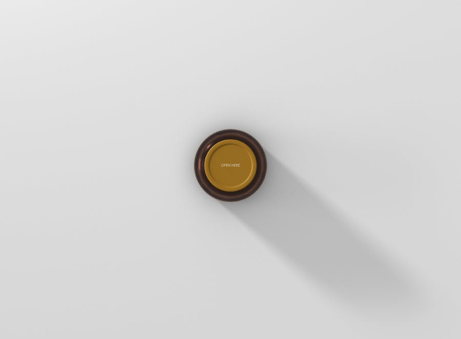 6个高品质琥珀药品瓶模型样机Amber Bottle Mockup插图(6)