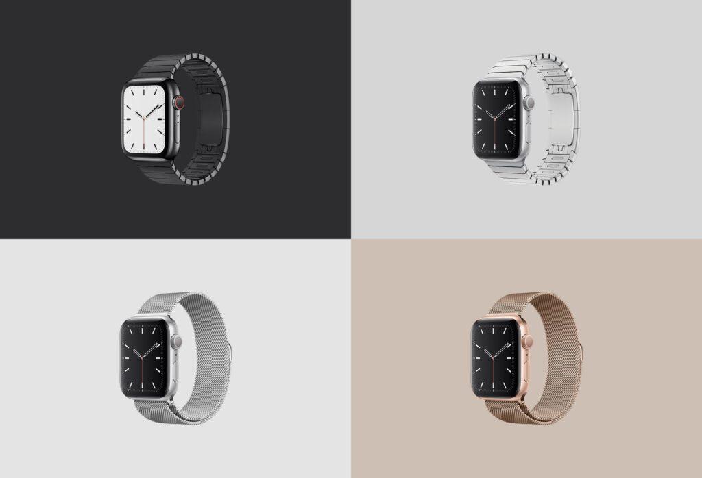 苹果手表系列5展示效果图样机模型下载Apple Watch Mockup Series 5插图(6)