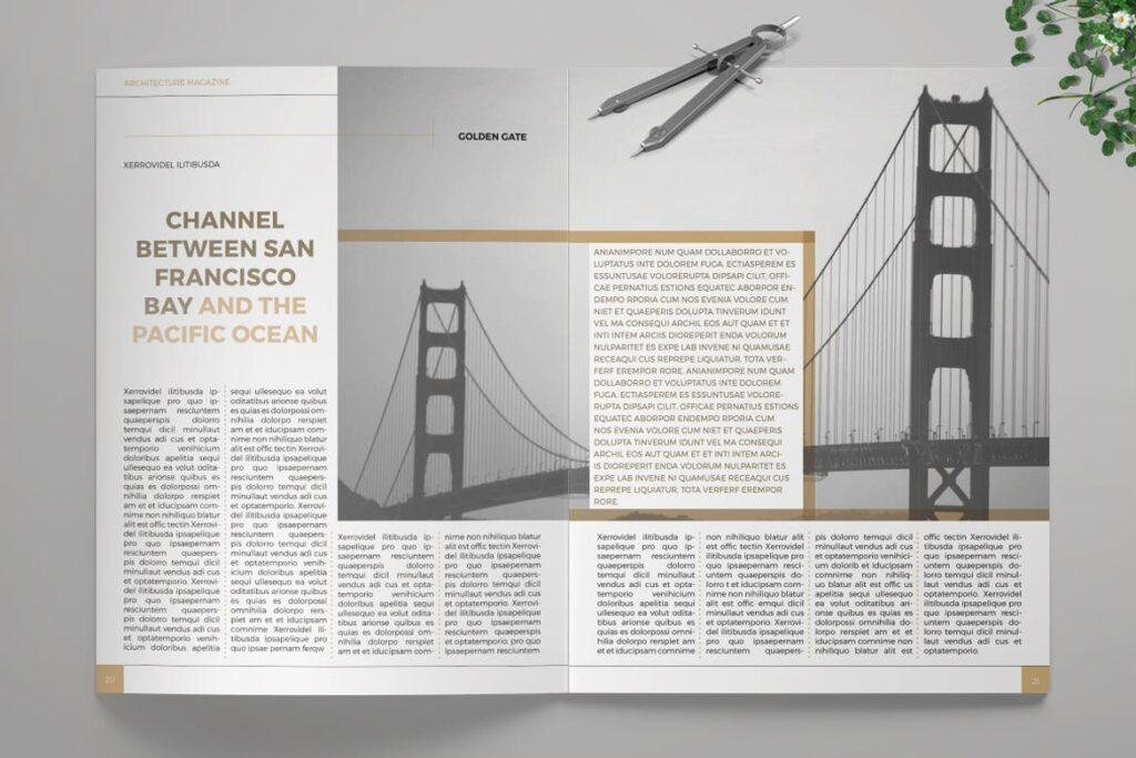 建筑设计/生态空间规划杂志模板Architecture Magazine插图(5)