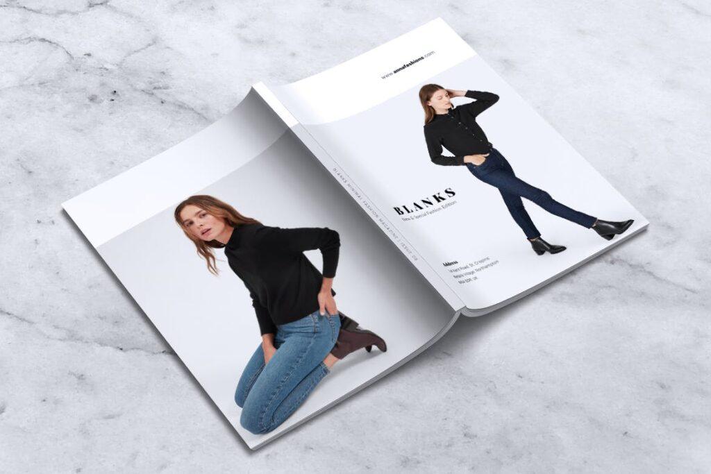 女性时尚服装品牌杂志模板BLANKS Minimal Fashion Magazine插图(6)