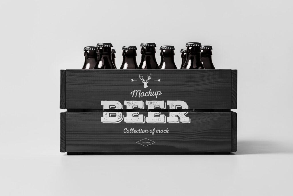 啤酒品牌包装/啤酒瓶包装模型样机模型下载Beer Mockup 2 DV9XAA插图(6)