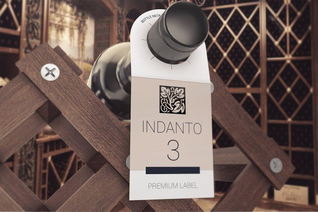 高端红酒标签样机模型效果图Bottle Neck Hang Tag Mockup插图(6)