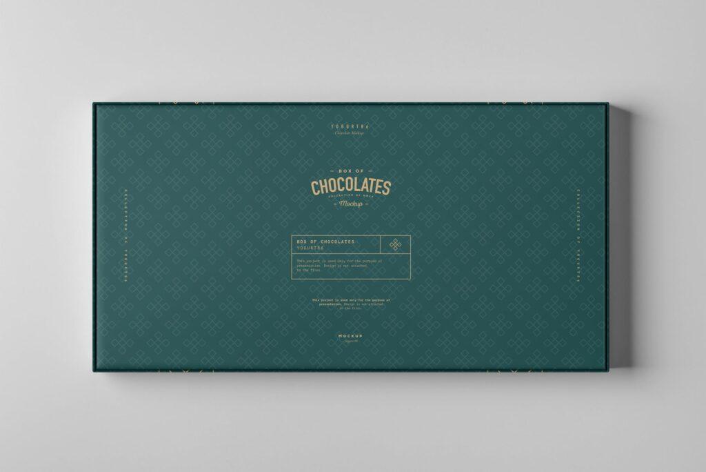 精致巧克力品牌包装模型样机效果Box Of Chocolates Mockup 2插图(6)