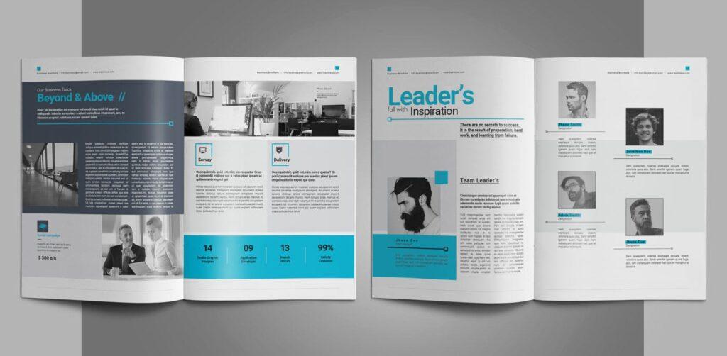 企业简介商务手册历史介绍杂志画册模板Business Profile插图(6)