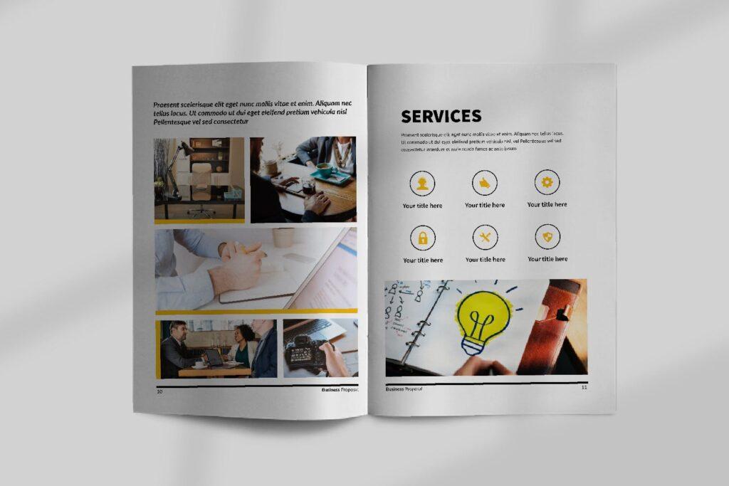 企业商务类画册模板素材画册模板Bussiness Proposal Brochure Company插图(5)