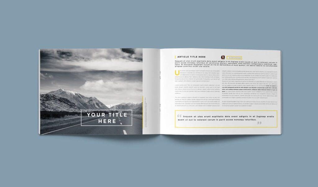 横版企业小册子/目录模板画册杂志模板Clean Brochure Catalog Template插图(6)