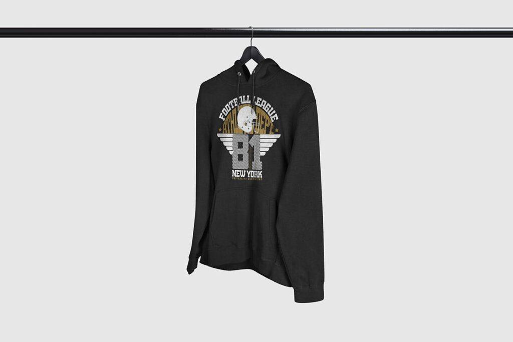 多色卫衣服装品牌样机模型素材样机pColor Hoodie Sweatshirt Mockup插图(6)