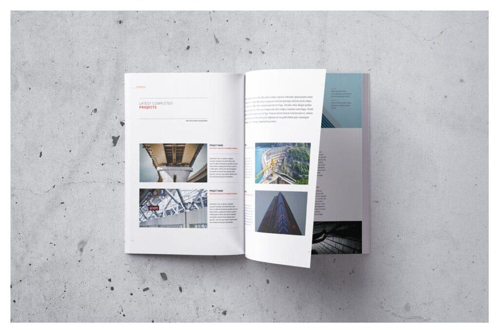 公司动态展示商业手册优雅简洁画册杂志模板Company Profile 001插图(5)