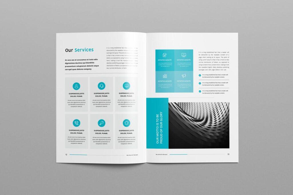 公司简介企业画册商务手册杂志模板素材Company Profile Z2NA6V插图(6)