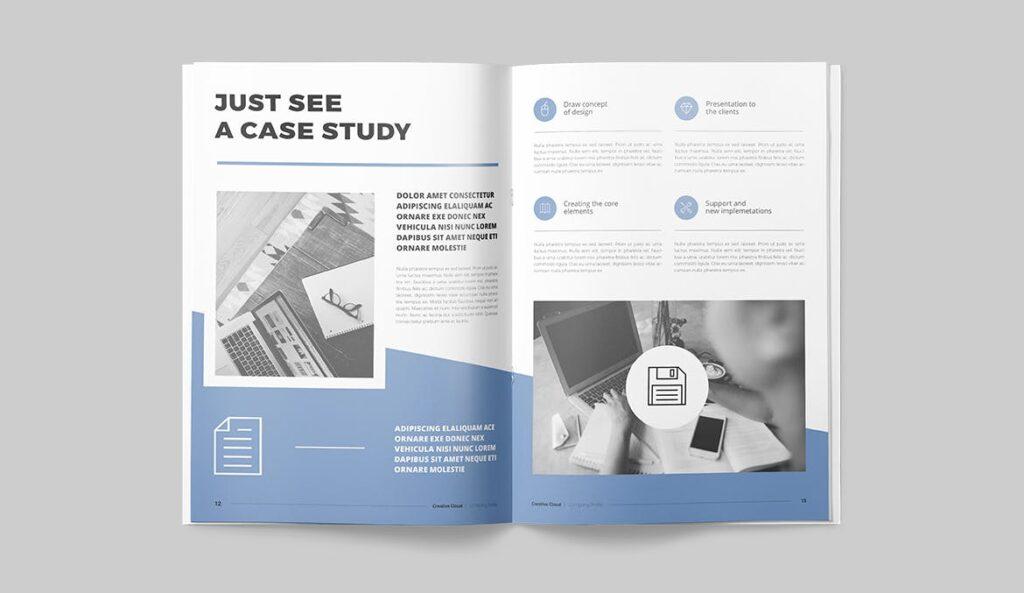 公司简介画册杂志模板素材下载Company Profile YT7HTG插图(6)
