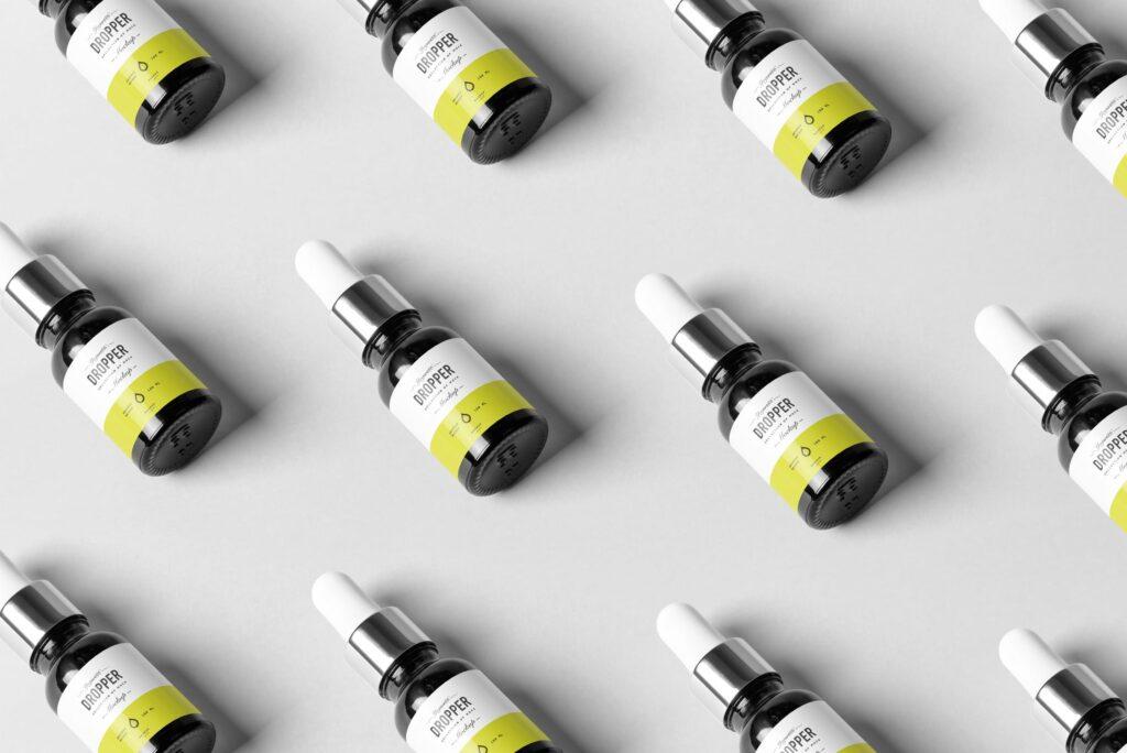 简约医药滴瓶方形包装盒样机包装模型样机素材下载Dropper Bottle MockUp 4Y7FR插图(6)